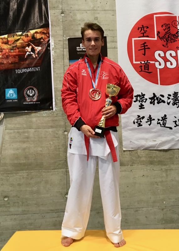 Jean-Baptiste Dayer Basel International Open Masters 2017 Karate Club Valais Sion Suisse Switzerland Entraîneur Olivier Knupfer 7e Dan