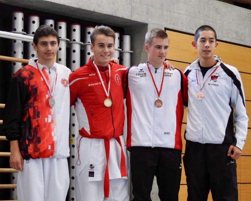 SKL Neuchâtel 2017 Jean-Baptiste Dayer Karate Club Valais Sion Suisse Switzerland Entraîneur Olivier Knupfer 7e Dan